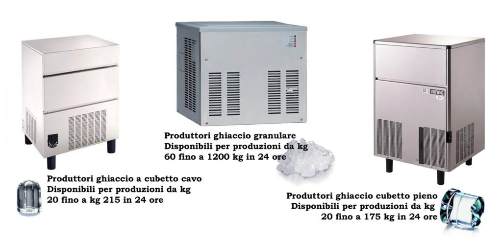 produttori ghiaccio professionali