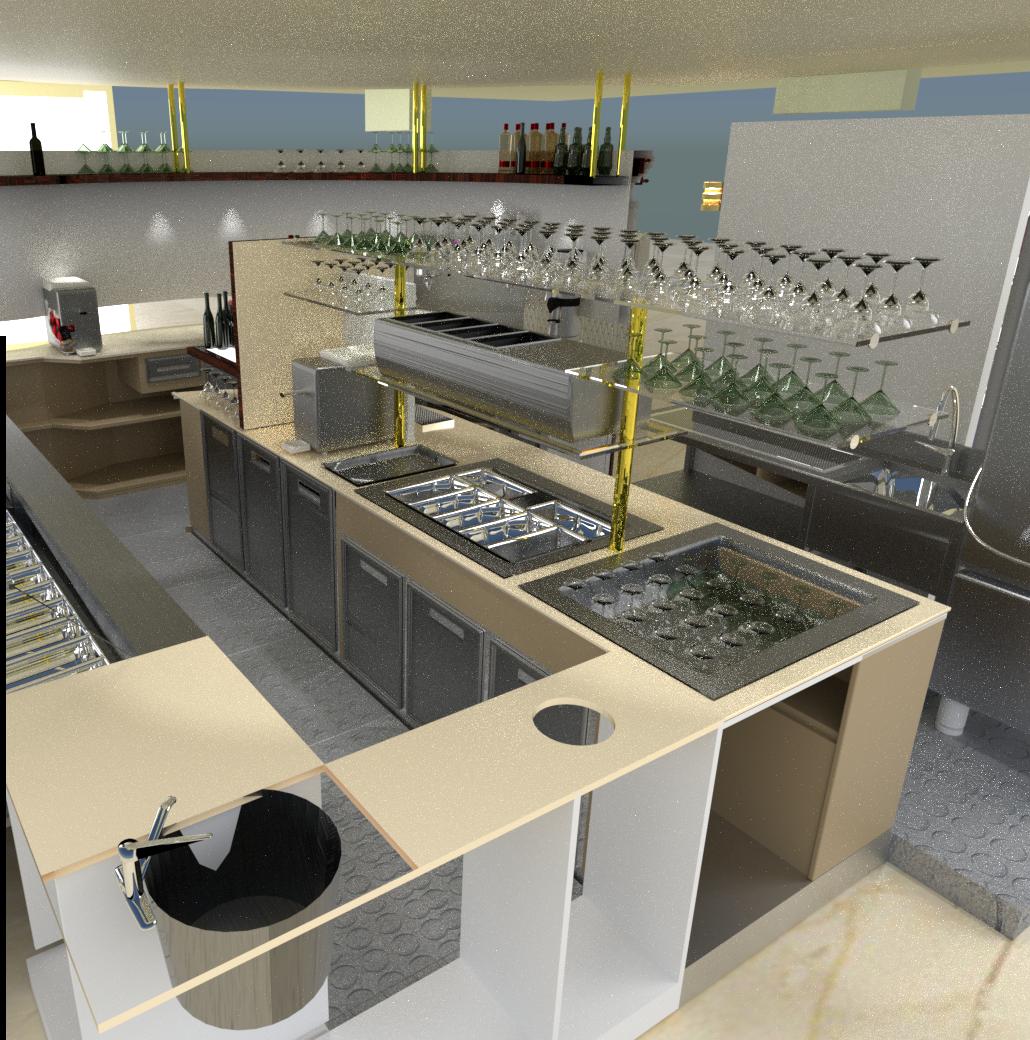 Progettazione render arredamento ristorante
