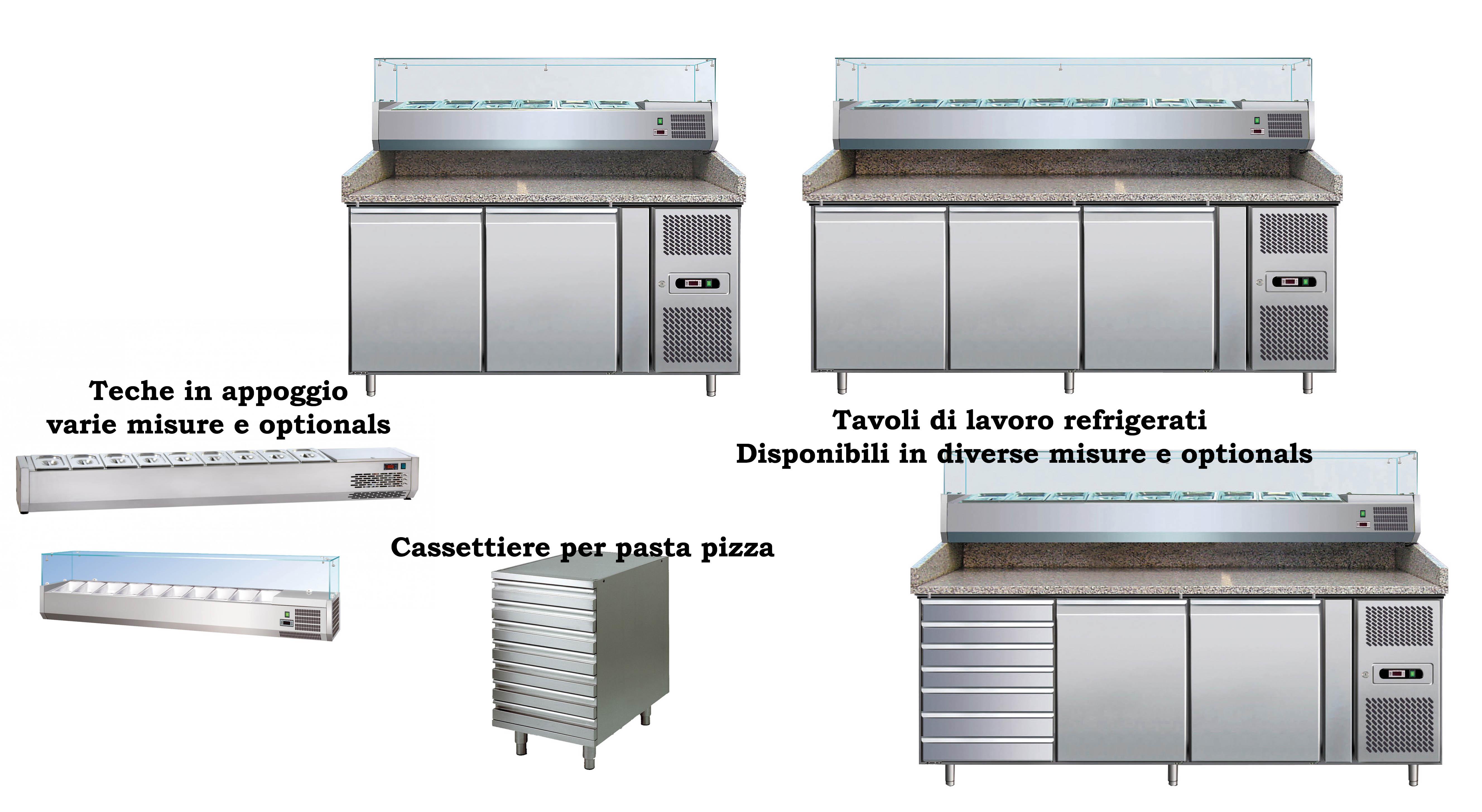tavoli lavoro professionali pizzeria