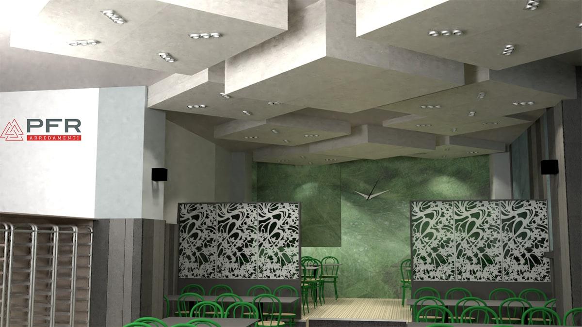 progettazione render ristorante