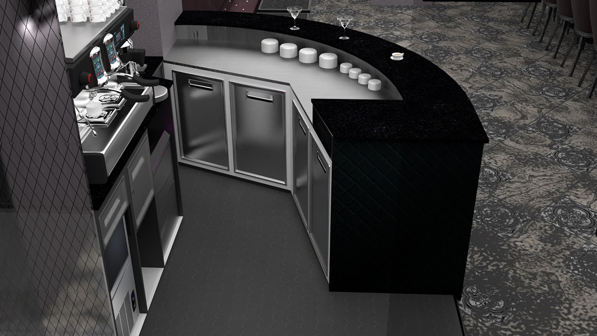 render arredamento cocktail bar nizza